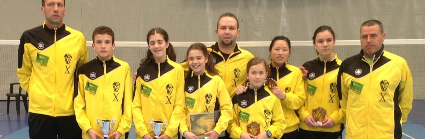 Un oro, una plata y dos bronces para el Club Bádminton Vegadeo en los Campeonatos de España sub15 y de minibádminton.