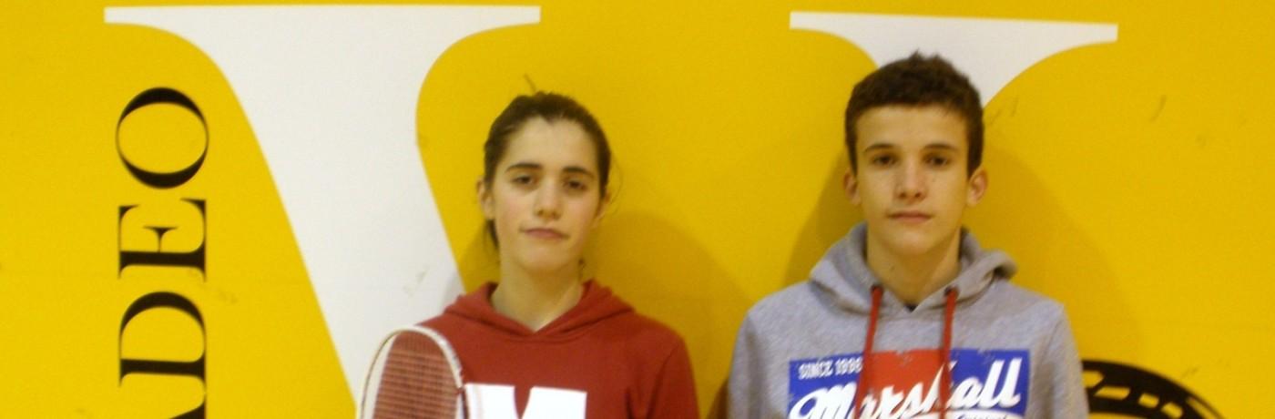 Laura Santos y Marcos Cosio seleccionados por la Federación Española de Bádminton para la concentración preparatoria del próximo Campeonato de Europa sub 15